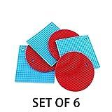 DiamondZoe Silicone Trivet Mat (Set of 6), Non SlipOven Mitts, Durable Pot Holders, The Safest Heat Resistant Hot Pads