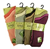 6 Pairs Of Women's Bamboo Socks, Super Soft Extra Fine Anti Bacterial Socks, UK 4-7, By Sockstack® (Assorted)