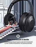 Mpow H17 Auriculares con Cancelación de Ruido Activa, Auriculares Diadema Bluetooth con Carga Rápida, 30 Hrs de Juego, Hi-Fi Sonido, Auriculares Diadema Inalámbricos con Micrófono para Móvil/TV/PC