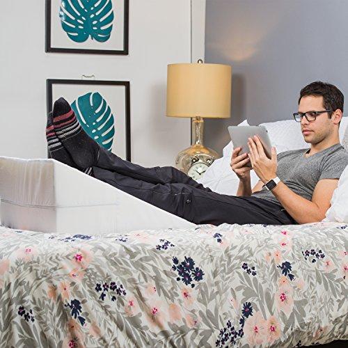 HealthSmart DMI Wedge Pillow, White