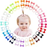 50pcs 25Pairs 2' Tiny Hair Bows Pigtail Elastic Hair Ties For Girls Babies Infants Toddlers