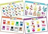 merka Set di 4 Tovagliette Educative per Bambini - Anti Scivolo & Lavabile (Piccolo)