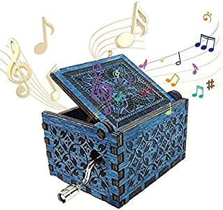 Dream Loom Wooden Music Box,Hand Crank Classical Carved Wooden Musical Box, Play Hedwig's Theme John Williams Song, Gift for Kids,Family and Friends