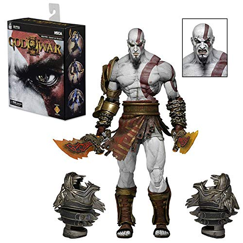 God of War Kratos Figura di Azione Mobile Bambola Articolazioni Toy Collection Animato Carattere di Modello Statua Decorazione Domestica, Regali dei Bambini di 18cm A