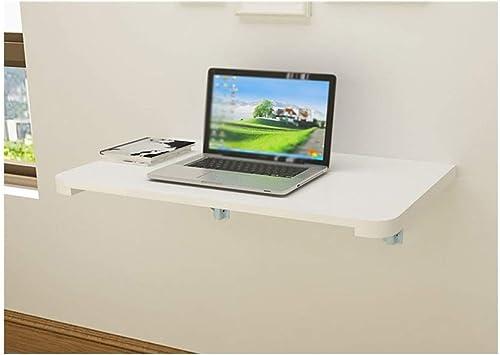 LQQGXLPortabler Klapptisch Klapptisch aus massivem Holz, an der Wand befestigter Computertisch, einfacher Lernschreibtisch, (Farbe   C, Größe   70  40cm)