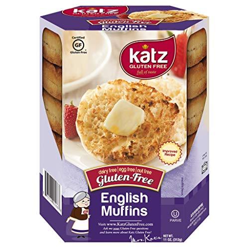 Katz Gluten Free English Muffins   Dairy Free, Egg Free, Nut Free, Gluten Free   Kosher (1 Pack of 4 Muffins, 11 Ounce)