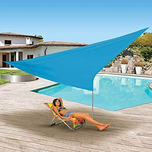 OSE Voile d'ombrage Triangulaire Turquoise 3.6 mètres