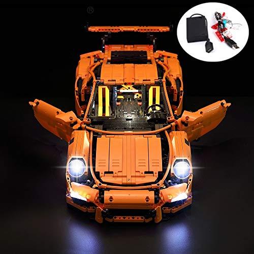 LED-Beleuchtungsset für lego Porsche 911 GT3 RS 42056 und 20001(Porsche nicht enthalten)
