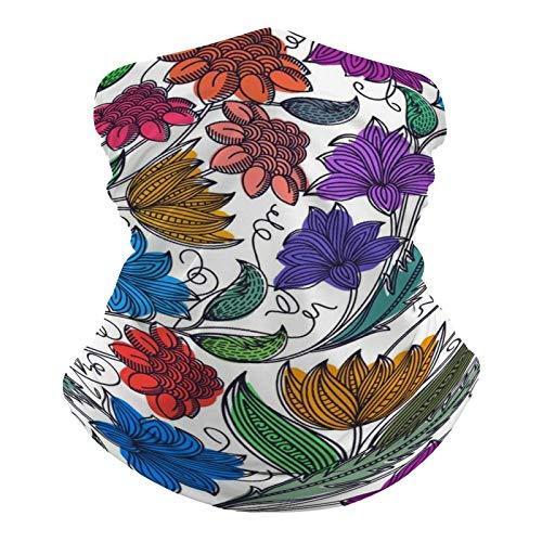 DKE&YMQ Pañuelo multifuncional unisex con patrón de bandana elástica, transpirable, para deportes, con resistencia a los rayos UV, diseño floral de pétalos, pedicel