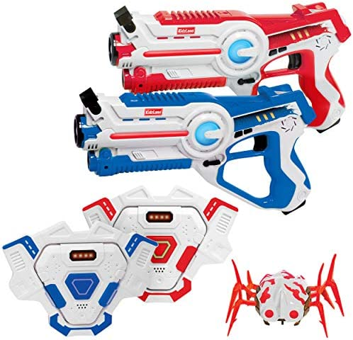 Kidzlane Laser Tag Gun Set of 2 with Vest and Spider Indoor and Outdoor Infrared Laser Tag Target product image