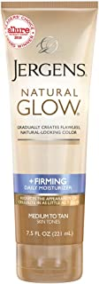 Natural Glow Firming Medium Tanning Lotion by Jergens for Unisex - 7.5 oz Lotion