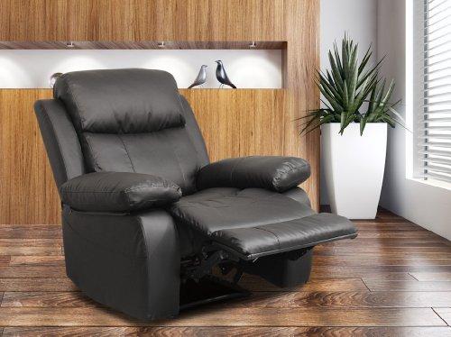 Poltrona TV Poltrona Relax con funzione sdraio nero - H-5752C/1414