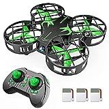 Mini Drohne H823H mit 3 Akkus für 21 Minuten Flugzeit, RC Drone, Quadrocopter Mini Helikopter mit Höhehalten, Kopfloser Modus, 3D Flips und 3 Geschwindigkeitsmodi für Anfänger Kinder