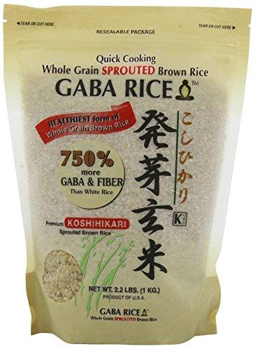 of gaba brown rice Koshihikari Premium Sprouted Brown Gaba Rice, 2.2-Pound Pouches (Pack of 2) - SET OF 2