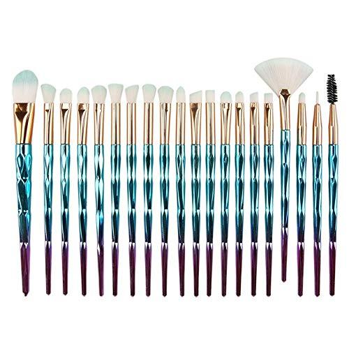 Lot de 20 pinceaux de maquillage de beauté outil diamant pinceau de maquillage longue tige ombre à paupières pinceau 20 B.S.