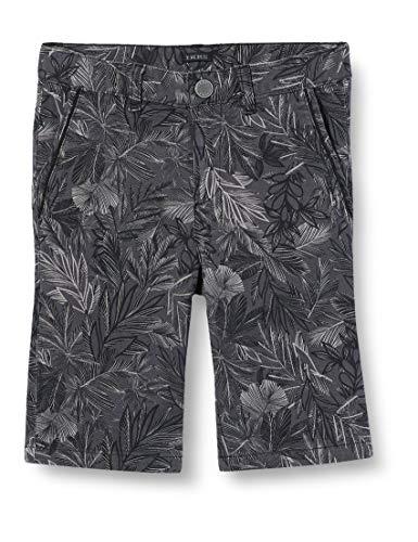 IKKS Junior Bermuda Palmiers Short, Noir (Noir Imprimé 02),