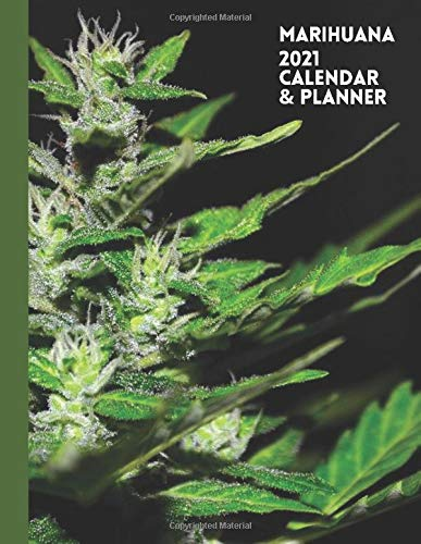 Marihuana: 2021 Calendar & Planner. Multi Use Weekly & Monthly Agenda For Cannabis Lovers & Stoners.