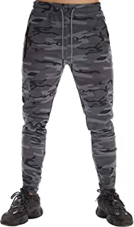 Men's Athletic Sweatpants Sports Pants Zipper Multi Pockets Active Joggers Pant for Men