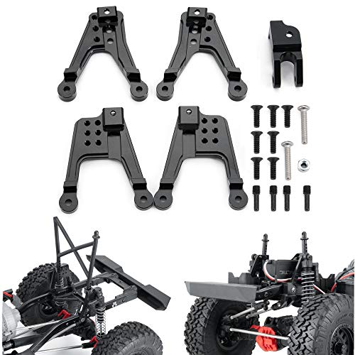 XUNJIAJIE 1 Set Aluminum RC Stoßdämpfer Halter,Front/Rear Shock Tower Hoops for AXIAL SCX10 II 90046 90047 RC Upgrades Part