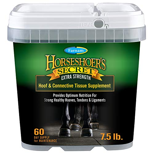 Farnam Horsehoer's Secret Extra Strength Connective Tissue and Hoof Supplement for Horses 7.5 Pounds