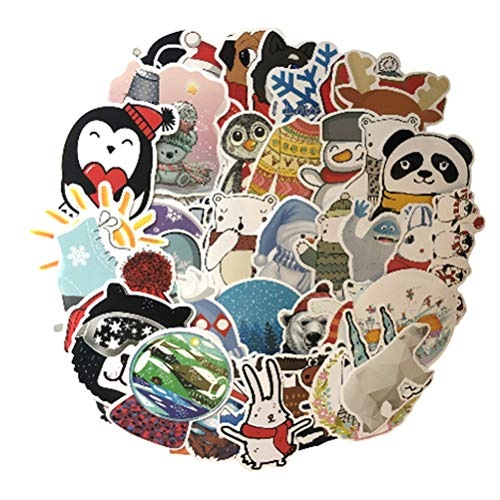 QIANGWEI 50stks Winter Sneeuwvlok Verse Sticker Scrapbook Karton Gitaar Speelgoed Koelkast Koffer Notebook Sticker Diy Helm Trolley Case Pvc