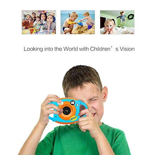 Funihut Cámara Digital niños silicio Suave Anticaída, cámara de vídeo AMKOV 1.77Inch HD Pantalla Color 5Millones de píxeles 1G3P Lense USB Recargable Kidizoom Action CAM Impermeable Resistente