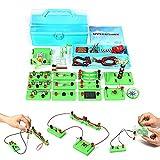 Circuitos Electricidad Set STEM Física Science Lab Circuito básico Aprendizaje Kit de iniciación Electricidad y Magnetismo Experimento para estudiantes escolares Electromagnetismo Electrónica Primaria