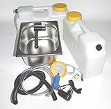 Wasseranlage Imbisswagen Verkaufsanhänger Campingküche 230V Bausatz Spüle 325x265x200 Integrierten Wasserhahn London Raumsparkanister (ad-ideen)