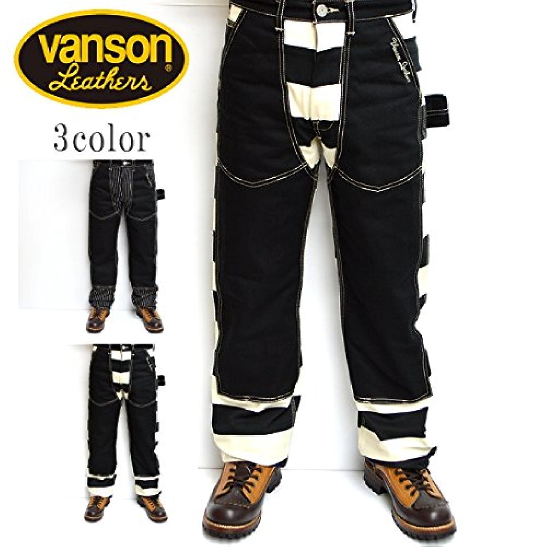 VANSON バンソン NVBL-706 ダブルニーパンツ ワークパンツ ボーダー色 日本製