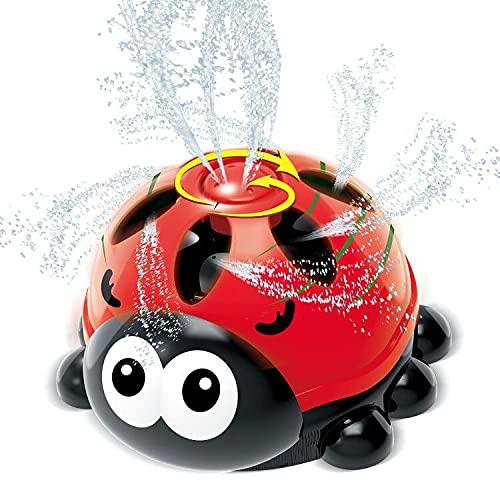 INSOON Water Sprinkler for Kids Backyard Spray Ladybug Sprinkler Toys...