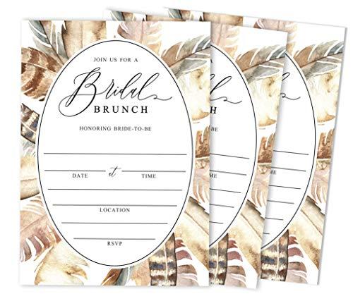 Inkdotpot 30 Greenery Fill-In Stijl Bruids Douche Uitnodigingen Blank Uitnodigingen Bruiloft Kalligrafie