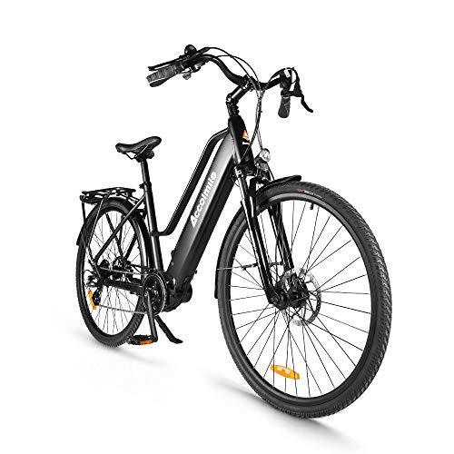 """Accolmile Bicicleta Eléctrica 28"""" 700C, Ebike de Ciudad con 36V 250W Motor de Media Torsión BAFANG M200, City Bicicleta de Paseo Pedelec, Adultos Unisex,..."""