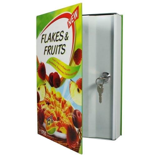 HMF 60936 Geldversteck Safe, als Müsli Cornflakes Packung getarnt, 27,0 x 19,0 x 5,5 cm