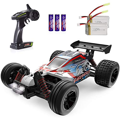 RC Cars 1:18 Scale High Speed Remote Control Car for Adults Kids Boys, 25+ MPH 4WD All Terrain Off Road Monster Trucks, 2.4GHz Rally Buggy Toys with 2 Rechargeable Batteries for 40+ Min Play