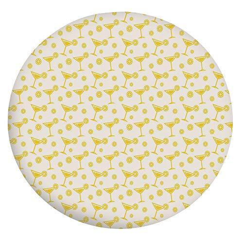 Mantel decorativo de poliéster con bordes elásticos, para mesas redondas de 91,4 a 101,6 cm, para comedores y cocinas