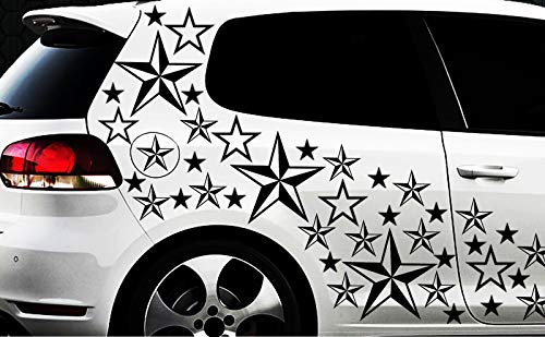 HR-WERBEDESIGN Lot de 93 Autocollants pour Voiture Motif étoiles Rose Motif étoiles Taille XXL