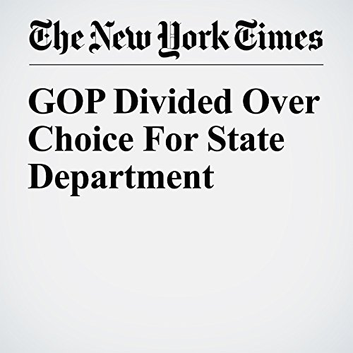 GOP Divided Over Choice For State Department cover art