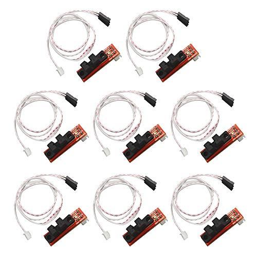 GTIWUNG 8Pcs Módulo de interruptor de límite de final de carrera mecánico, Interruptor óptico De Límite Mecánico Compatible Con La Impresora 3D RepRap RAMPAS 1.4