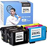 myCartridge SUPRINT Remanufactured Ink Cartridge Replacement for Epson 252XL 252 XL use with Workforce WF-7710 WF-3640 WF-3620 WF-7720 WF-7210 WF-7620 (2 Black 1 Cyan 1 Magenta 1 Yellow, 5-Pack)