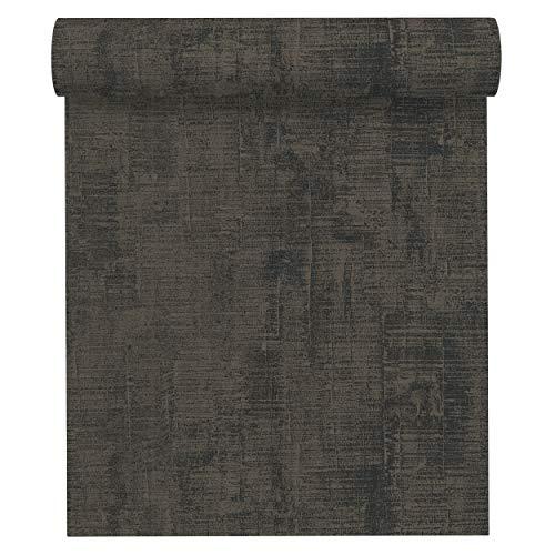 A.S. Création Vliestapete Memory 3 Tapete Uni 10,05 m x 0,53 m grau schwarz Made in Germany 335944 33594-4