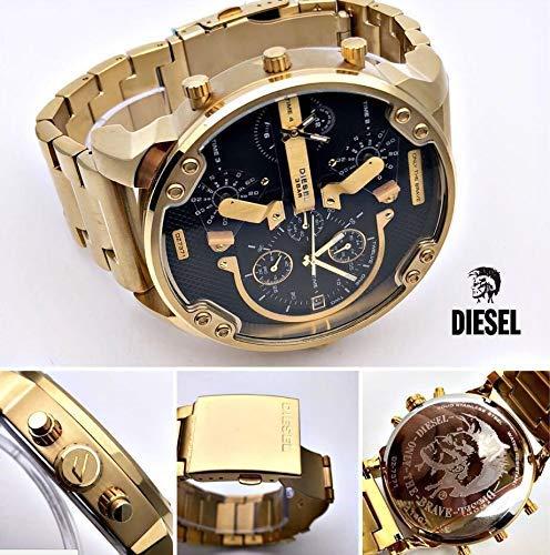 Diesel DZ7333 Mr. Daddy 2.0 - Orologio da polso da uomo, colore: Oro