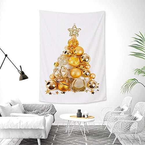 Tapiz de árboles de Navidad simple para colgar en la pared, tela de fondo blanco, manta de decoración para dormitorio en casa, 150X100CM