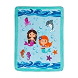 EVERYDAY KIDS Toddler Throw Blanket - 30' by 40' - Mermaids Undersea Adventure - Super Soft, Plush, Warm and Comfortable