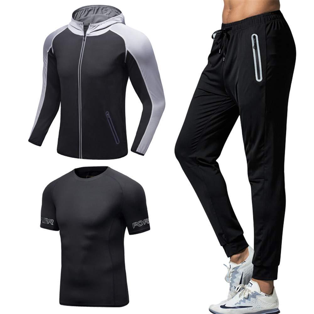 D-BuLun 丹步伦 新款男士健身运动套装 速干排汗透气 健身房训练跑步服 健身服 弹力紧身防拉伤运动装备 ALK-958
