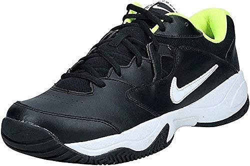 Nike Men's Court Lite 2 Tennis Shoe, Black/White-Volt, 6 Regular US