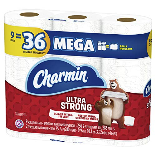 Price comparison product image Charmin Ultra Strong Toilet Paper 9 Mega Roll