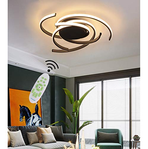 Preisvergleich Produktbild LED Lampe Modern Design Schlafzimmer Esstisch Deko Deckenleuchte Dimmbar mit Fernbedienung Decke Pendelleuchte Aluminium Acryl Leuchte für Wohnzimmer Küche Flur Hotel Bar Badezimmer Deckenlampe