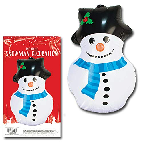 Lizzy Christmas Inflatables Snowman Santa Reindeer Blow Up Toy Xmas Decoration Gift (Snowman)