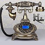 DIANHUA Téléphone De Style Antique Téléphone Rétro Vintage Classique Téléphone Fixe à Cadran Téléphone Filaire à L'ancienne pour La Décoration De Bureau Merveilleux Cadeau Artisanat