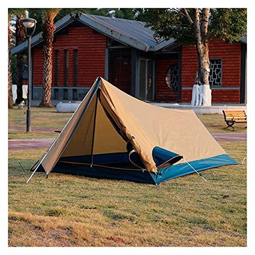 Tienda de campaña Nueva tienda ultraligera portátil 1 persona tiendas de placa UV Protección UV Tiendas impermeables 4 temporadas Camping de campaña al aire libre para la playa ( Color : Khaki )